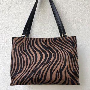 Kate Spade Pony Hair Brown Leather Shoulder Bag